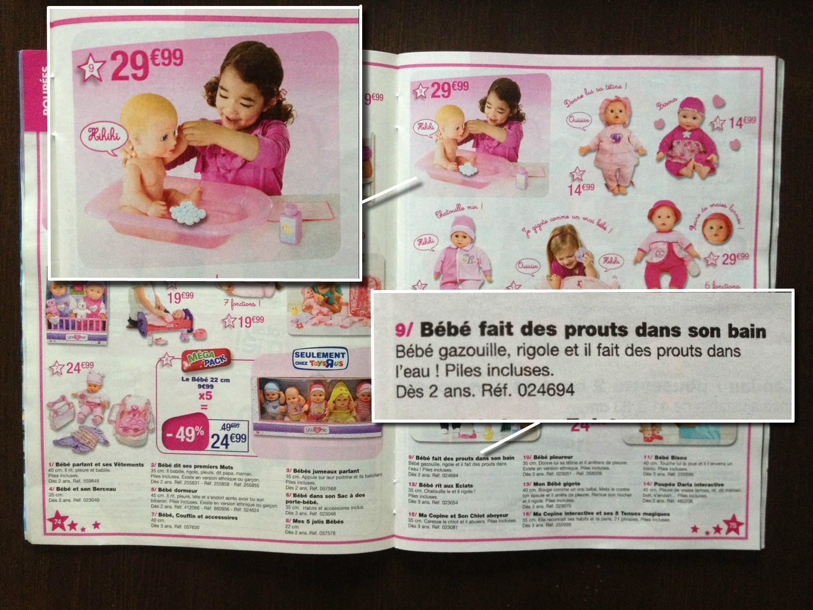 Catalogue ToysRus - Bébé Prouts dans le Bain