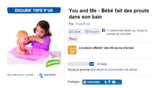 You&Me Bébé Prouts dans le bain