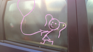 car window drawing avec couleur