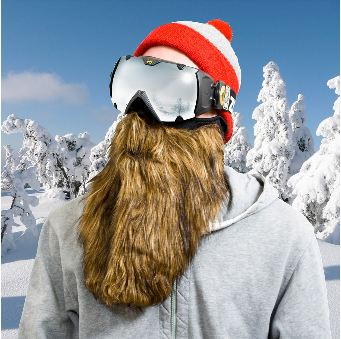 masque de ski à barbe