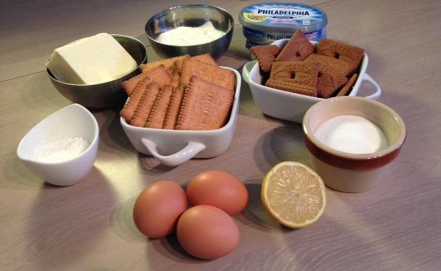 Ingrédients Cheese Cake de Mémé