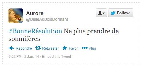 Tweet Résolution Aurore