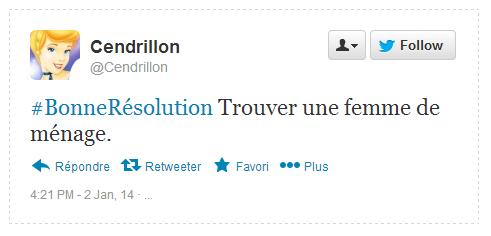 Tweet Résolution Cendrillon