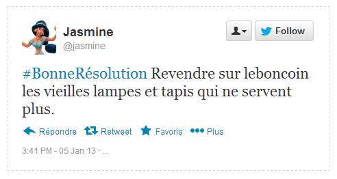Tweet Résolution Jasmine