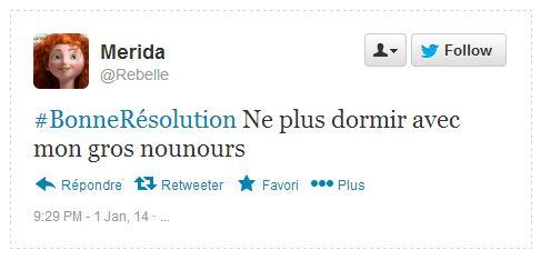 Tweet Résolution Merida