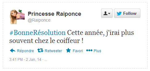 Tweet Résolution Raiponce