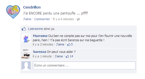 Facebook Cendrillon