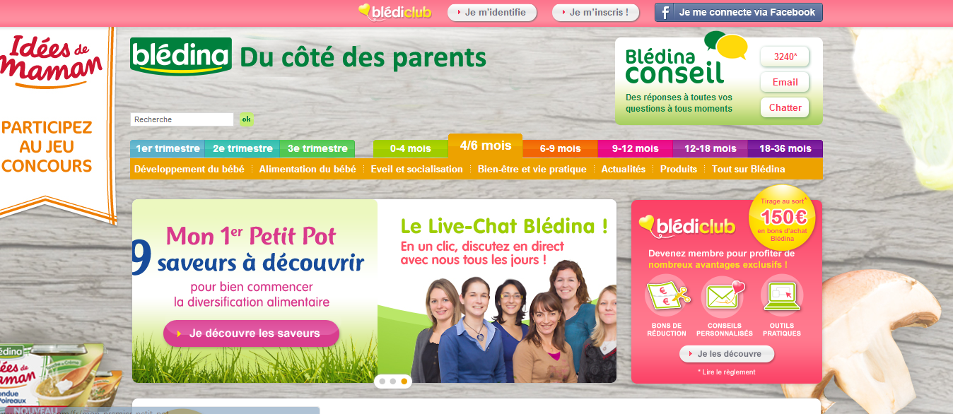 Blédina DU COTE PARENTS