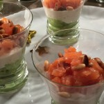 Verrines Avocat, Saumon, et fromage Boursin®