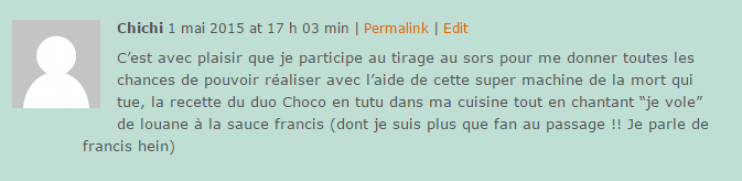 Commentaire Yaourtière