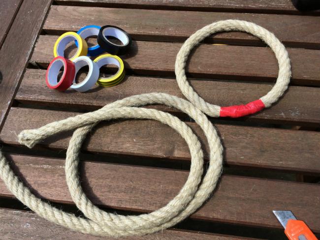 Jeu de Kermesse DIY fabrication anneaux Corde