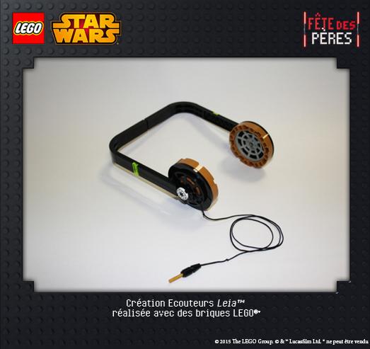 Ecouteurs Leila Exposition virtuelle Lego Star Wars
