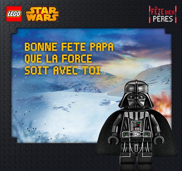 e-card- Fête des Pères Lego Star Wars
