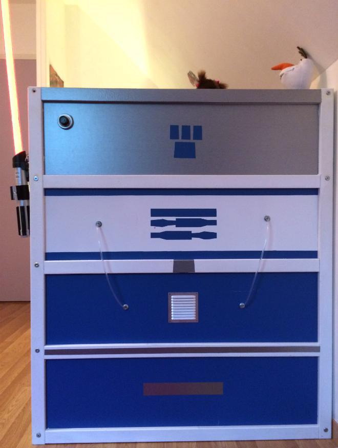 Tuto Lit Star Wars R2D2 Ikea de face