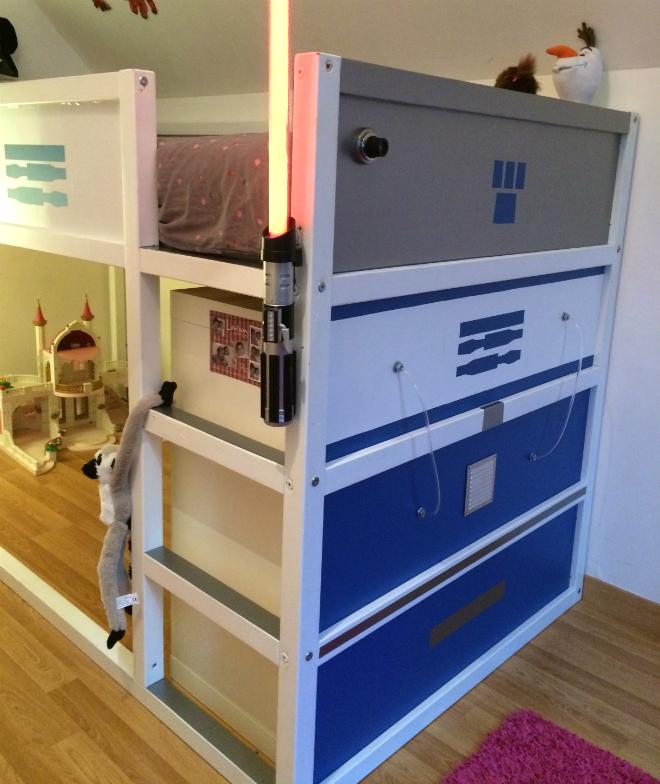 Transformer Un Lit Enfant Ikea En Lit Star Wars R2d2