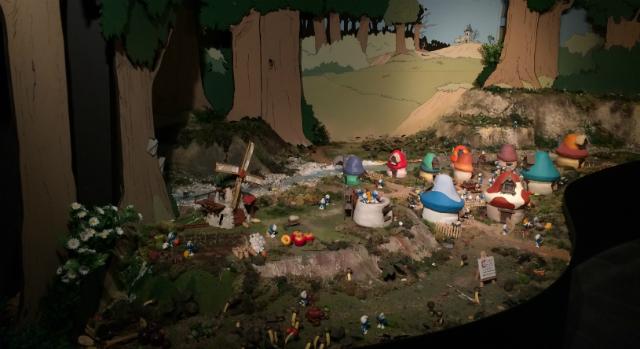 MOOF Bruxelles diorama Schtroumpfs
