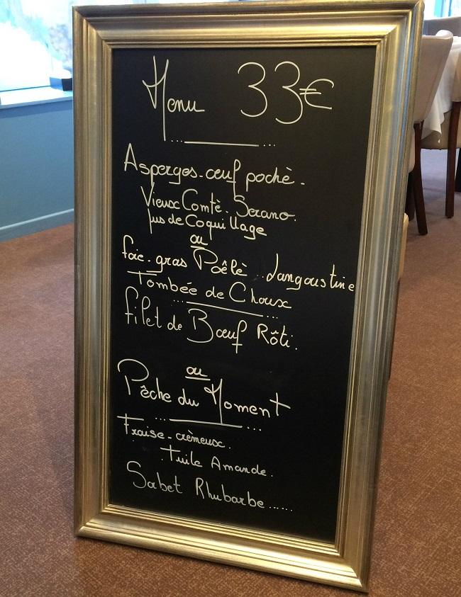 Les Pieux - Restaurant Le ptit bourg - Menu