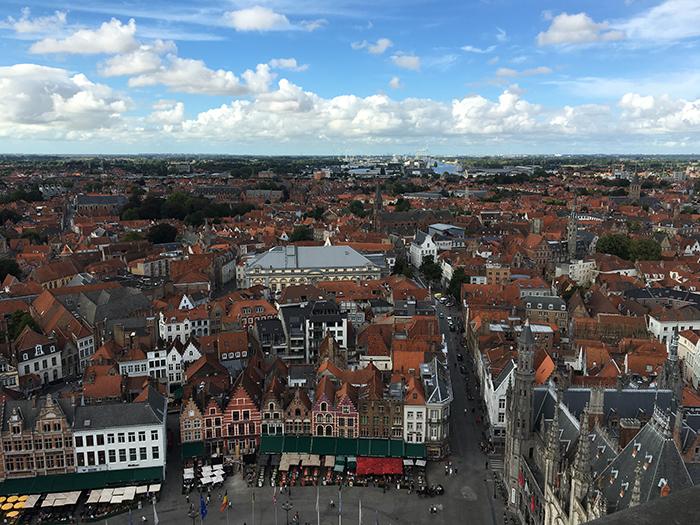 Bruges vue Beffroi