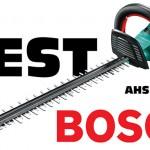 Test du taille-haies électrique sans fil AHS 55-20 LI BOSCH