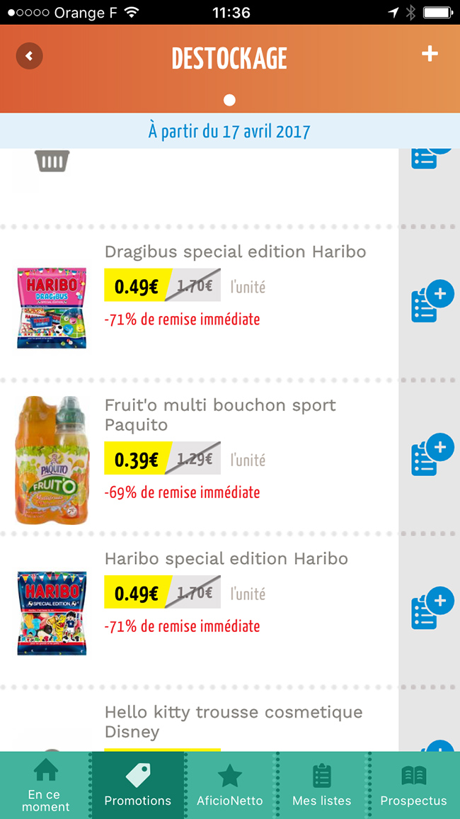 destockage netto