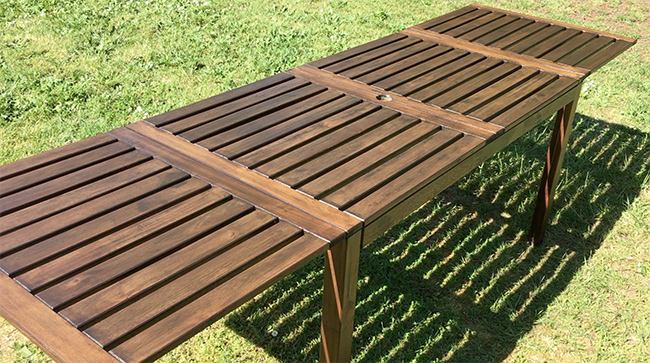 Renovation table jardin ikea