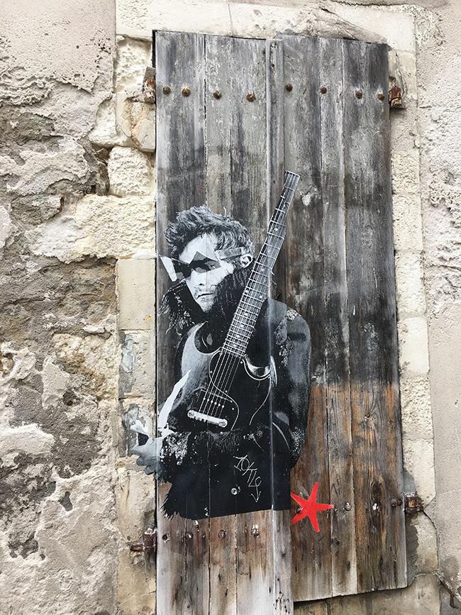 Street art La Rochelle M