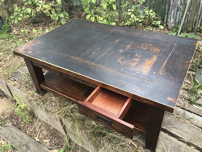 Relooking table basse style industriel